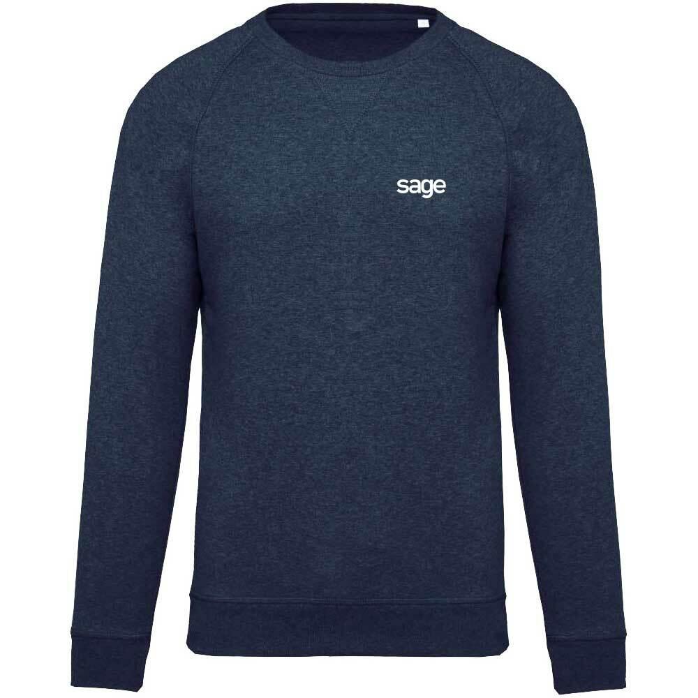 Sage Premium Pullover mit gesticktem V-Einsatz am Kragen M1-SAGE 92140