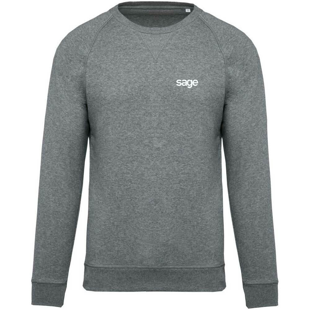 Sage Premium Pullover mit gesticktem V-Einsatz am Kragen