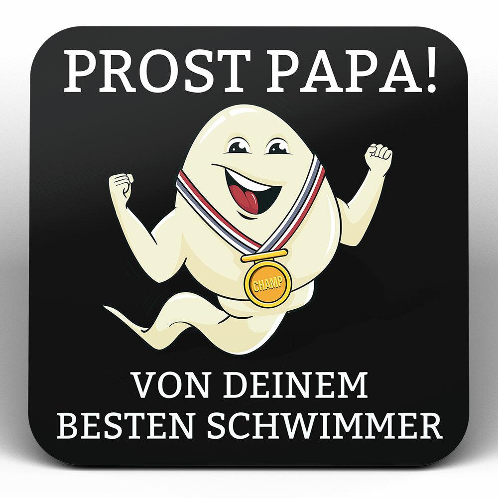 """""""Alles Gute Papa wünscht dein bester Schwimmer"""" Spermium Tasse (Variante: Weißer Henkel)"""