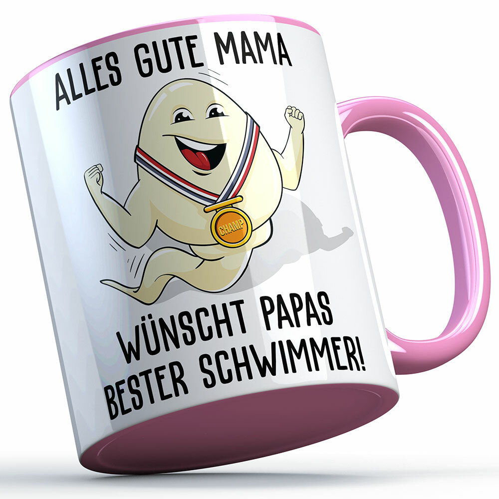 """Alles Gute Mama wünscht Papas bester Schwimmer"" Spermium Tasse (Verschiedene Varianten) 92152"