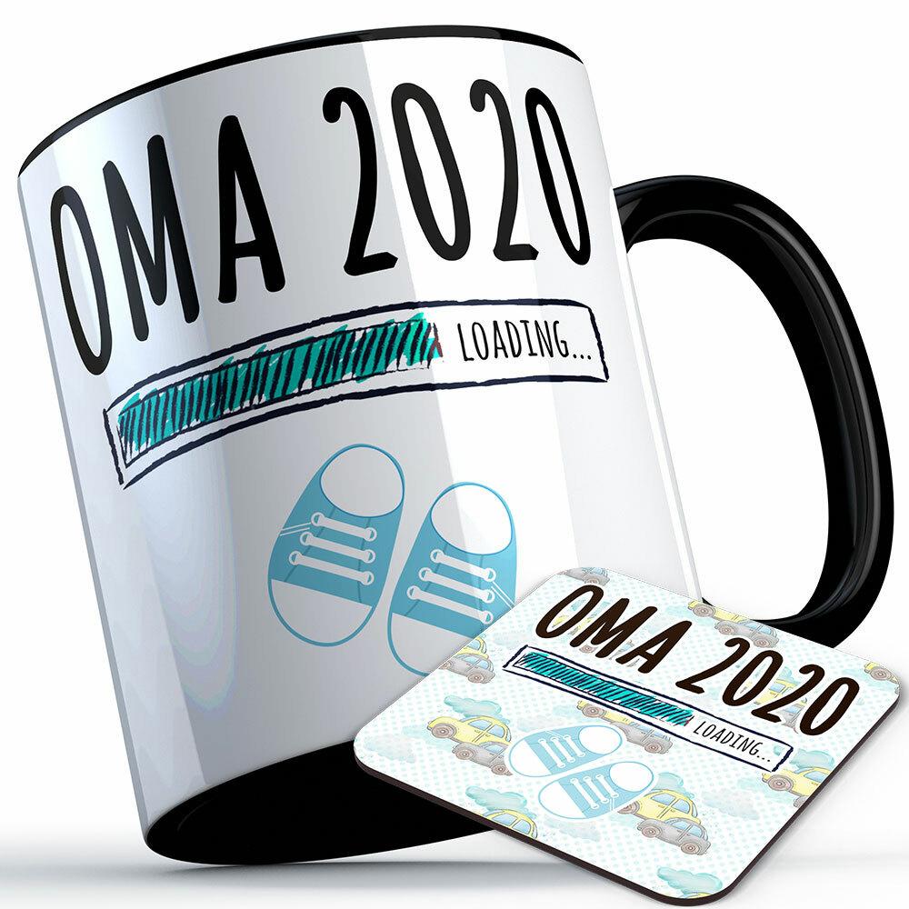"""Oma 2020 loading... (Junge)"" Tasse inkl. passendem Untersetzer (4 Varianten) 92175"