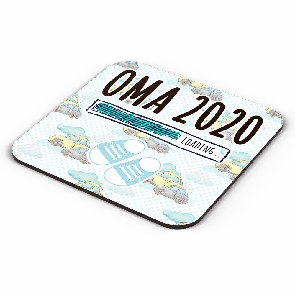 """Oma 2020 loading... (Junge)"" Tasse inkl. passendem Untersetzer (4 Varianten)"