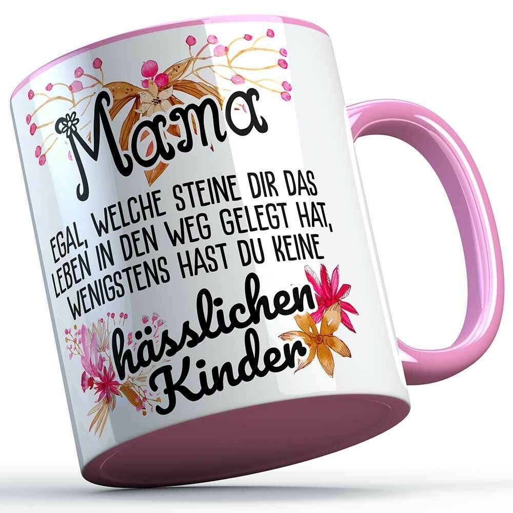 Mama egal welche Steine dir das Leben in den Weg gelegt hat... Tasse lustige Sprüchetasse (5 Varianten)