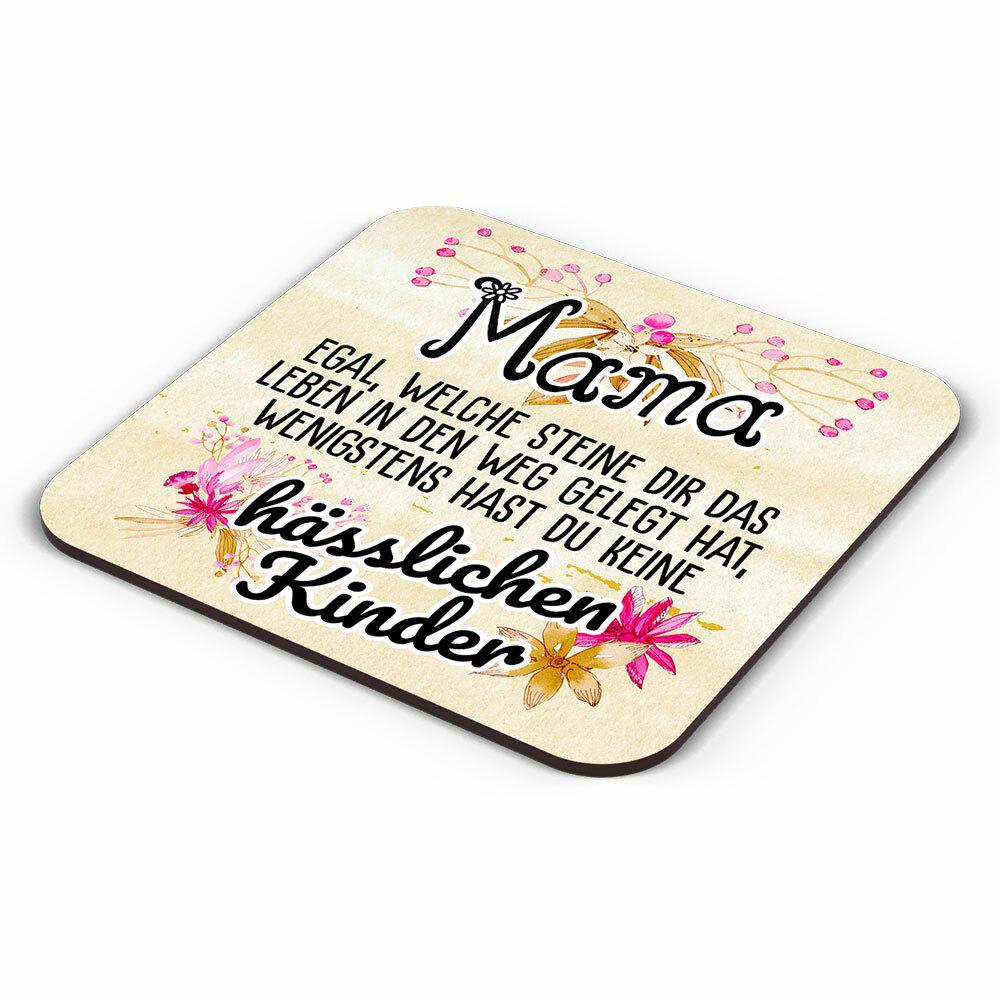 Mama egal welche Steine dir das Leben in den Weg gelegt hat... Tasse inkl. passendem Untersetzer lustige Sprüchetasse (5 Varianten)