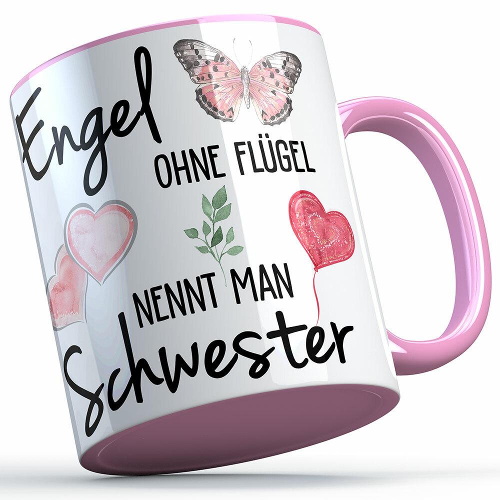 """""""Engel ohne Flügel nennt man Schwester"""" Tasse lustige Sprüchetasse (5 Varianten) 92197"""