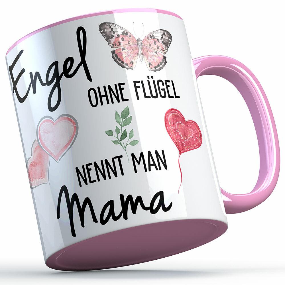 """""""Engel ohne Flügel nennt man Mama"""" Tasse lustige Sprüchetasse (5 Varianten) 92199"""