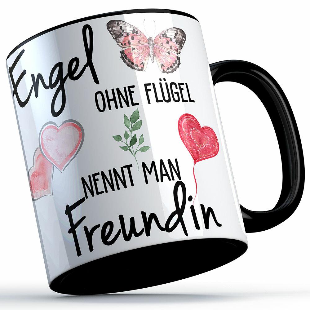 """""""Engel ohne Flügel nennt man Freundin"""" Tasse lustige Sprüchetasse (5 Varianten) 92201"""
