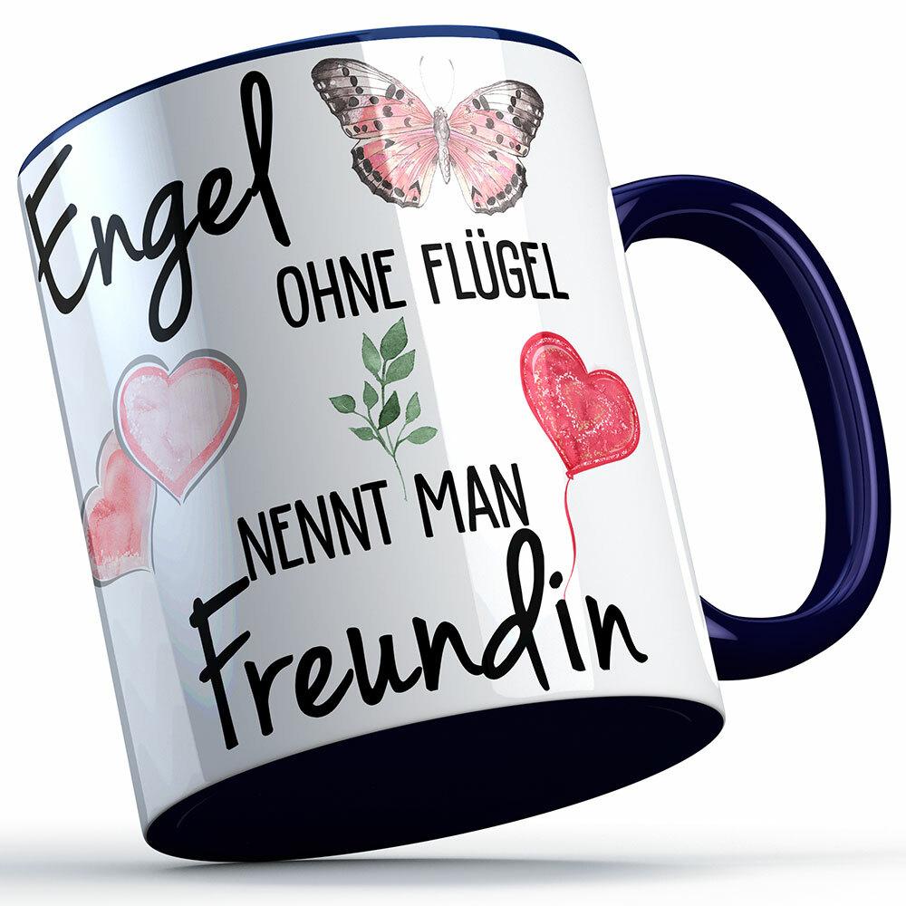 """""""Engel ohne Flügel nennt man Freundin"""" Tasse lustige Sprüchetasse (5 Varianten)"""
