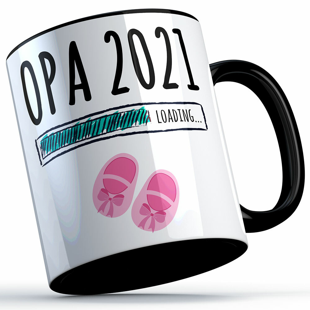 """Opa 2021 loading... (Mädchen)"" Tasse (5 Varianten) 92207"