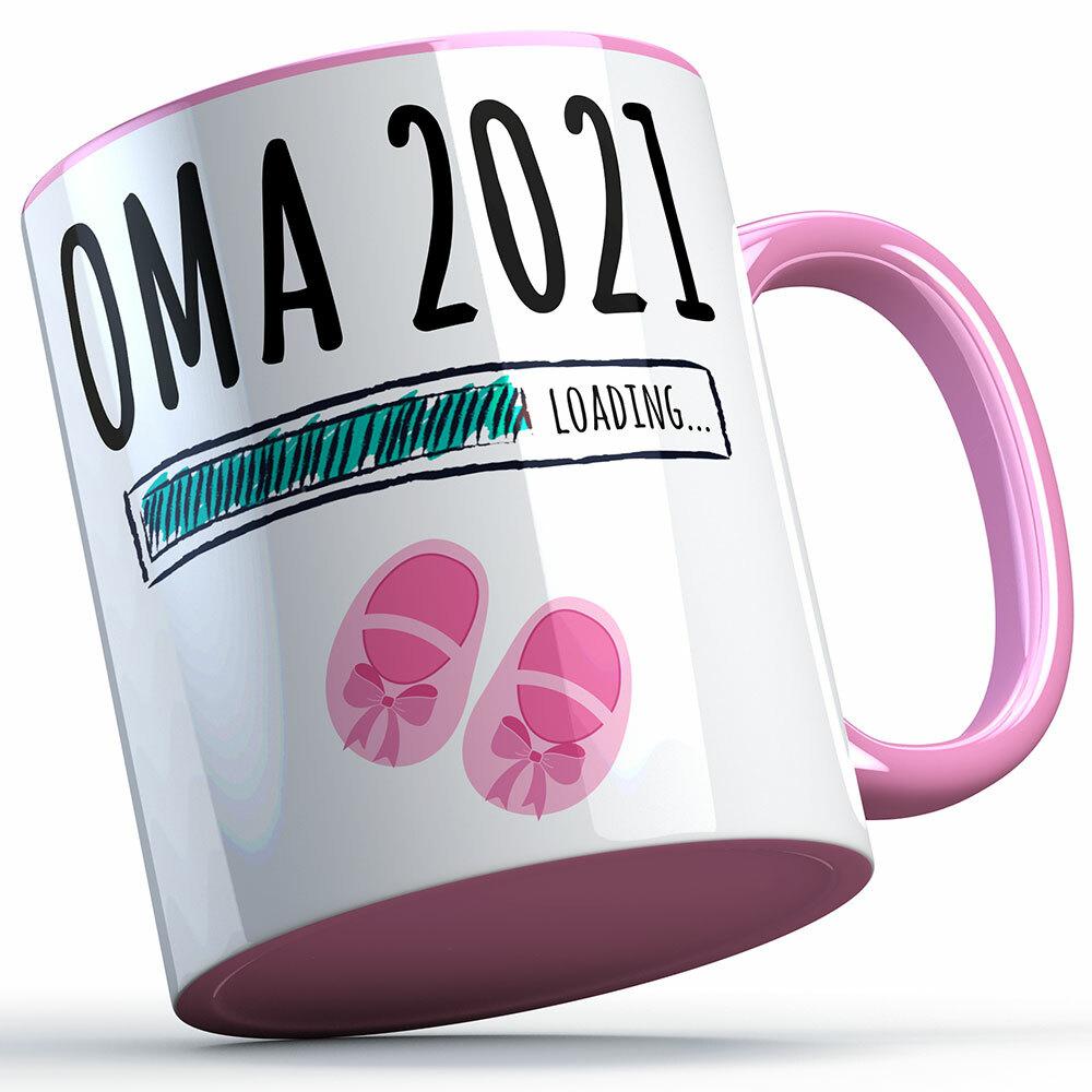 """""""Oma 2021 loading... (Mädchen)"""" Tasse (5 Varianten) 92209"""