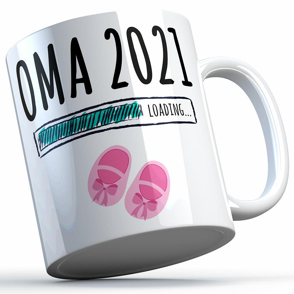 """""""Oma 2021 loading... (Mädchen)"""" Tasse (5 Varianten)"""