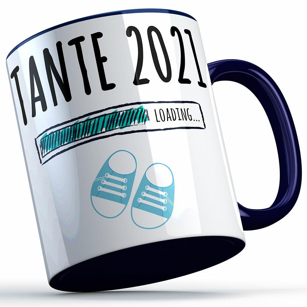 """""""Tante 2021 loading... (Junge)"""" Tasse (4 Varianten) 92213"""