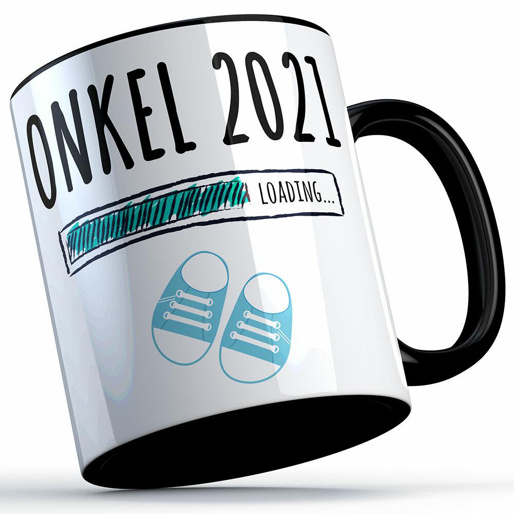 """""""Onkel 2021 loading... (Junge)"""" Tasse lustige Sprüchetasse (4 Varianten) 92217"""