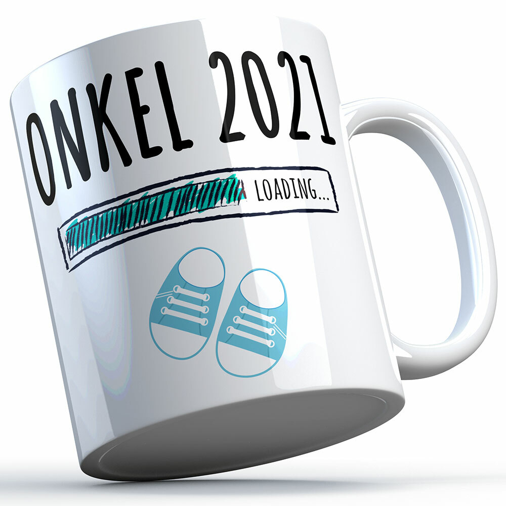"""""""Onkel 2021 loading... (Junge)"""" Tasse lustige Sprüchetasse (4 Varianten)"""