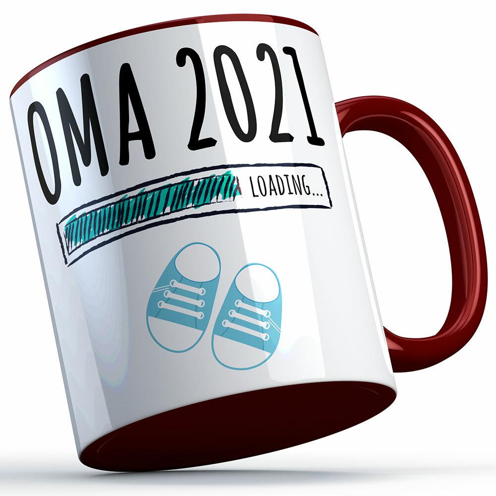 """""""Oma 2021 loading... (Junge)"""" Tasse lustige Sprüchetasse (4 Varianten) 92219"""