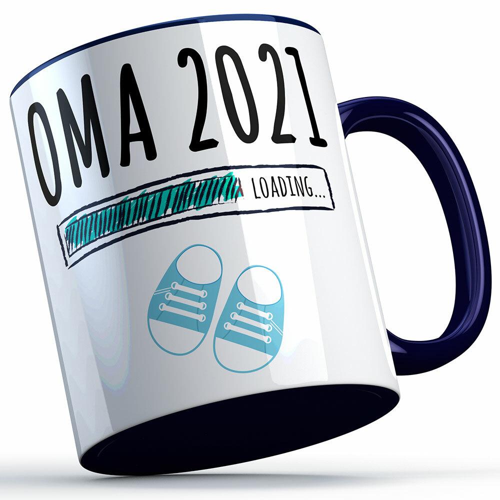 """""""Oma 2021 loading... (Junge)"""" Tasse lustige Sprüchetasse (4 Varianten)"""