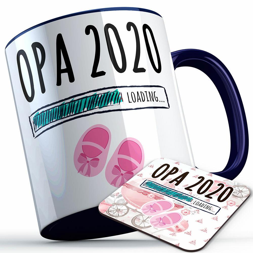 """Opa 2020 loading... (Mädchen)"" Tasse inkl. passendem Untersetzer (5 Varianten) 92224"