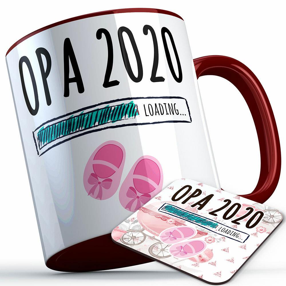 """Opa 2020 loading... (Mädchen)"" Tasse inkl. passendem Untersetzer (5 Varianten)"