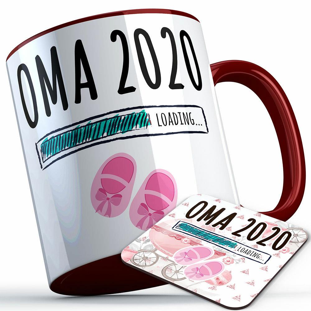 """""""Oma 2020 loading... (Mädchen)"""" Tasse inkl. passendem Untersetzer (5 Varianten) 92226"""