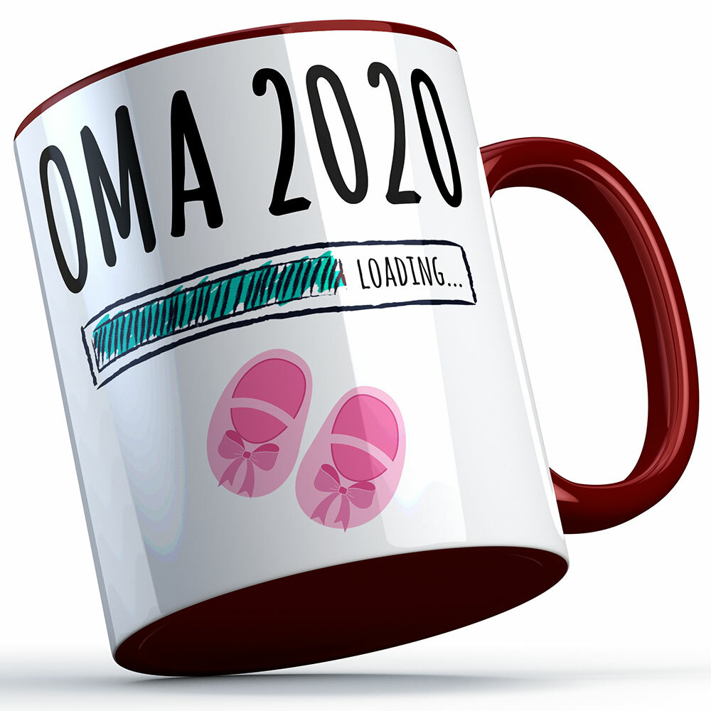 """""""Oma 2020 loading... (Mädchen)"""" Tasse (5 Varianten)"""