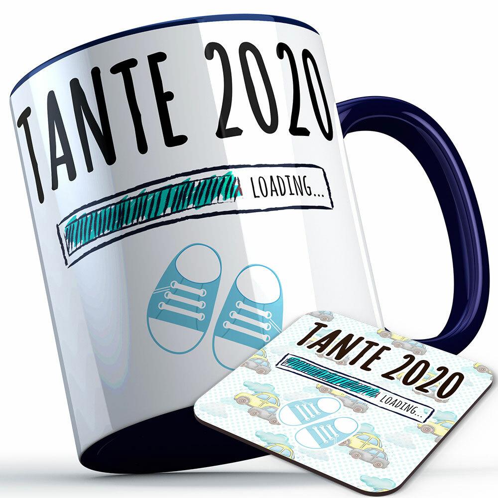 """Tante 2020 loading... (Junge)"" Tasse inkl. passendem Untersetzer (5 Varianten) 92230"