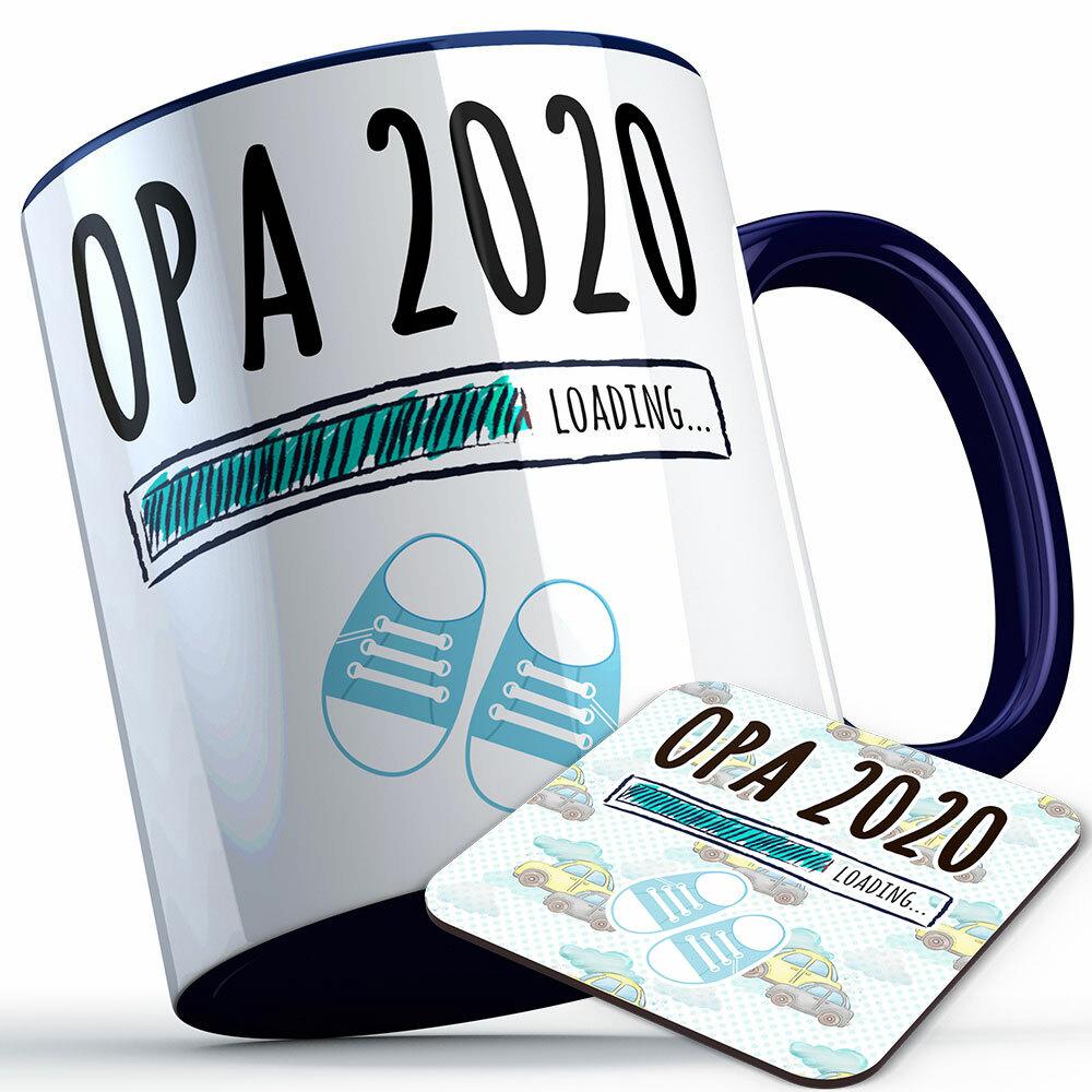 """Opa 2020 loading... (Junge)"" Tasse inkl. passendem Untersetzer (4 Varianten) 92232"