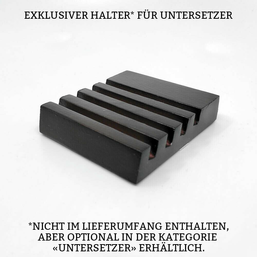 """""""Hab ich Saufi gehört?"""" Bieruntersetzer aus Hartfaser (Gelb)"""