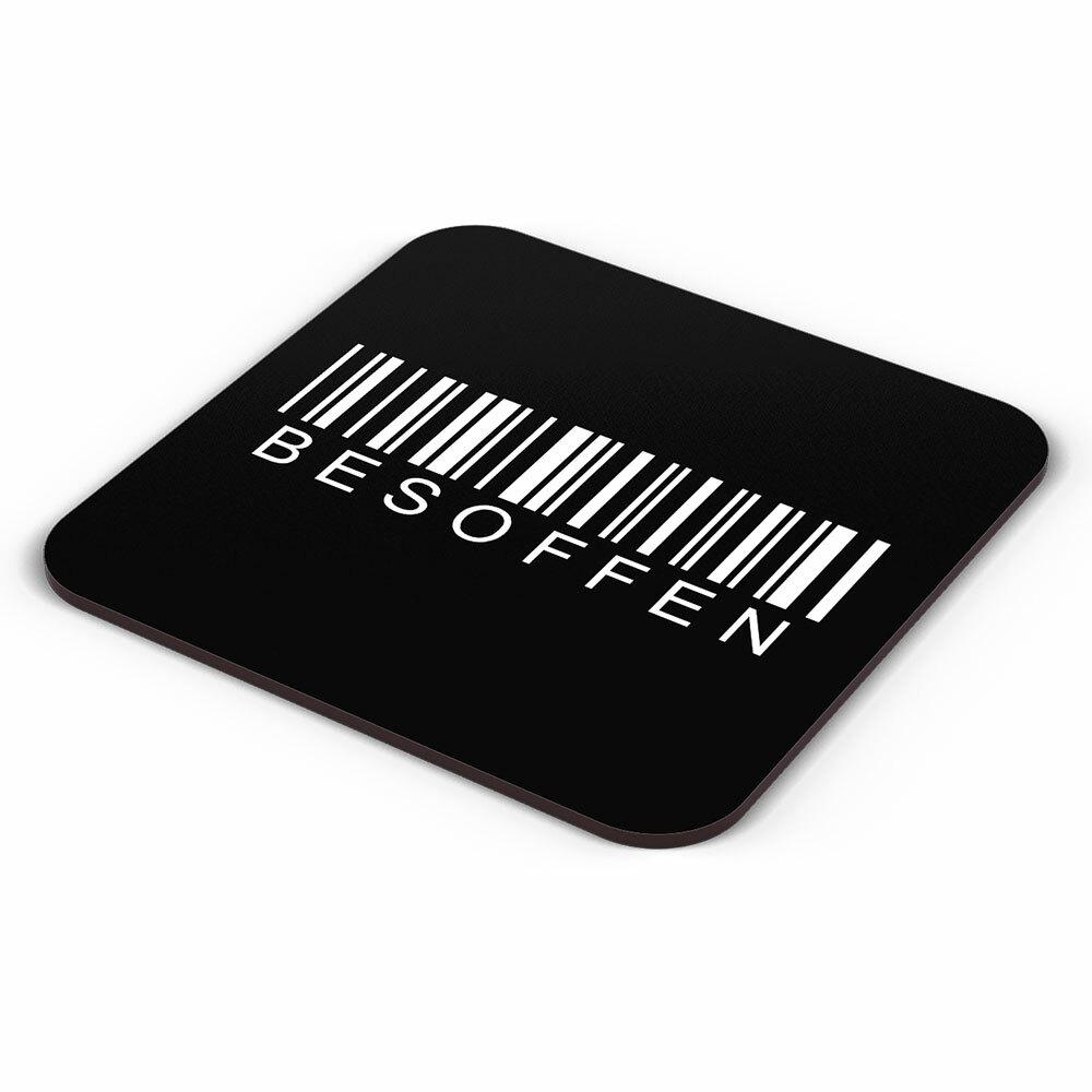 """""""Besoffen / Barcode"""" Bieruntersetzer aus Hartfaser 92263"""