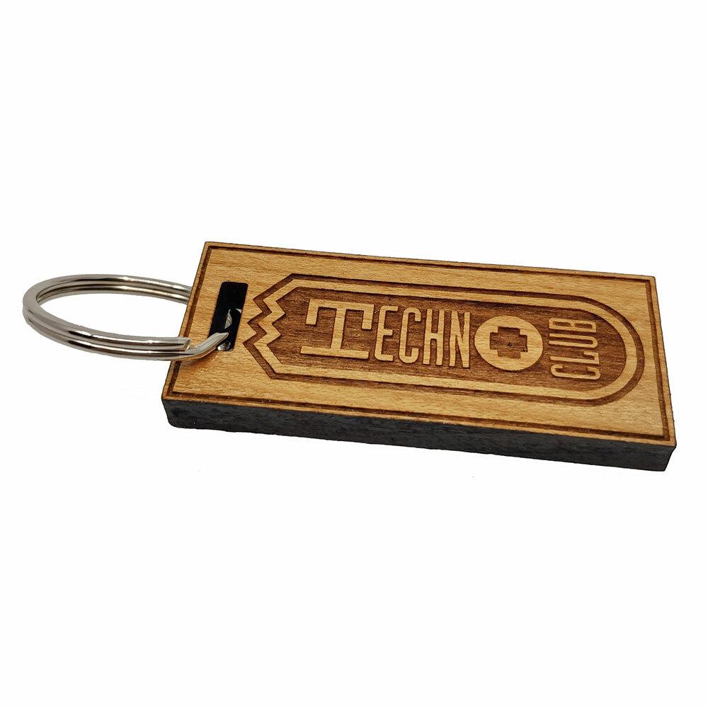 Technoclub Kirschbaumholz-Schlüsselanhänger mit 3D-Lasergravur (Limited Edition) +++ NEU +++ 92266
