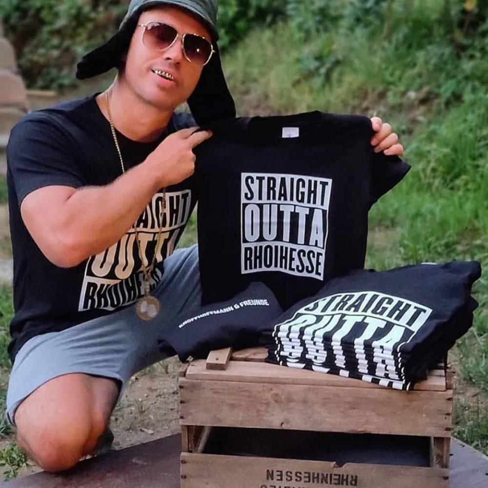 """T-Shirt """"Straight outta Rhoihesse"""" (Herren)"""