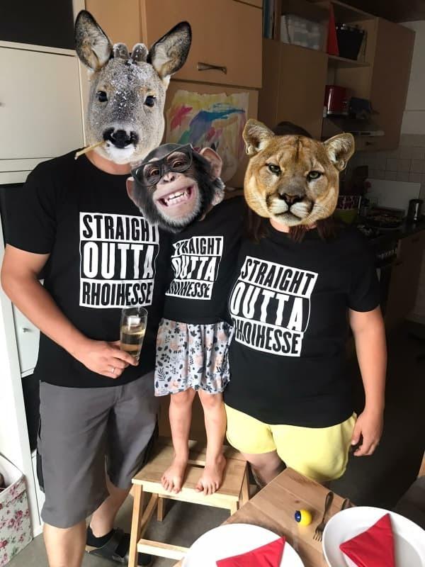 "T-Shirt ""Straight outta Rhoihesse"" (Damen)"