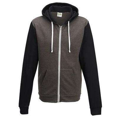 Two-Tone Zip Jacket