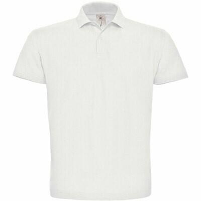 Premium Polohemd mit 2er Knopfleiste (Herren, Farbe Weiß)