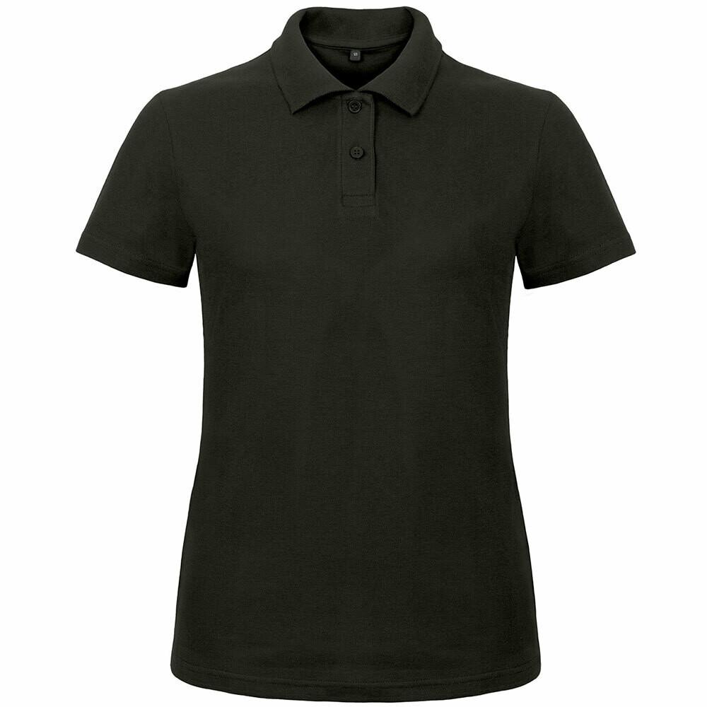 Premium Polohemd mit 2er Knopfleiste (Damen, Farbe Schwarz)