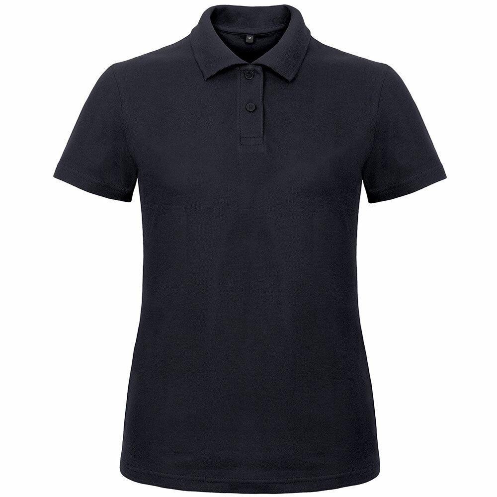 Premium Polohemd mit 2er Knopfleiste (Damen, Farbe Navy) 56654