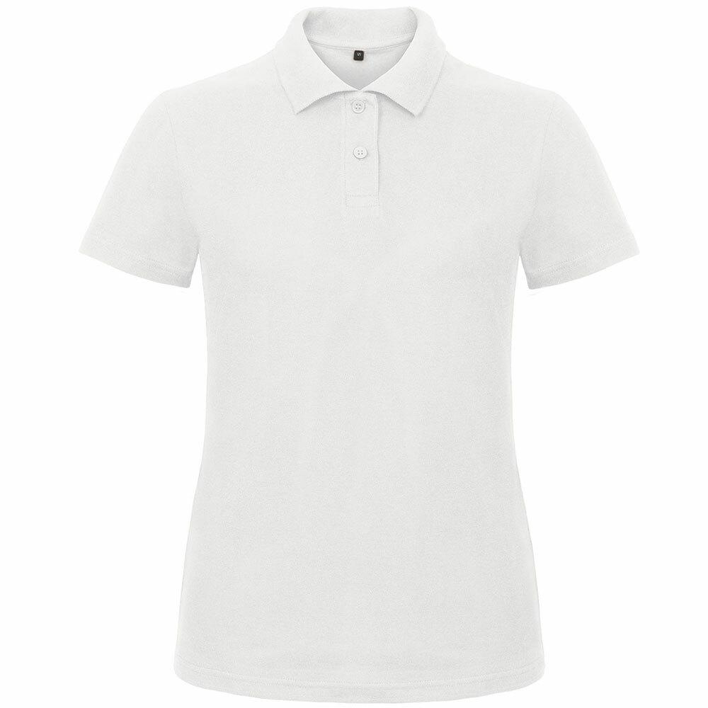 Premium Polohemd mit 2er Knopfleiste (Damen, Farbe Weiß) 292983