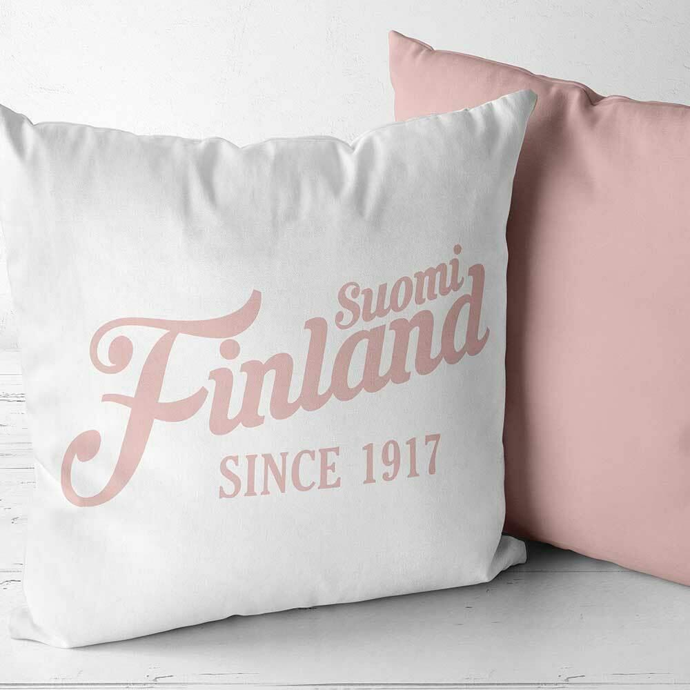 """""""Suomi Finland - since 1917"""" Two Tone Kissen (Erhältlich in sechs Farben)"""