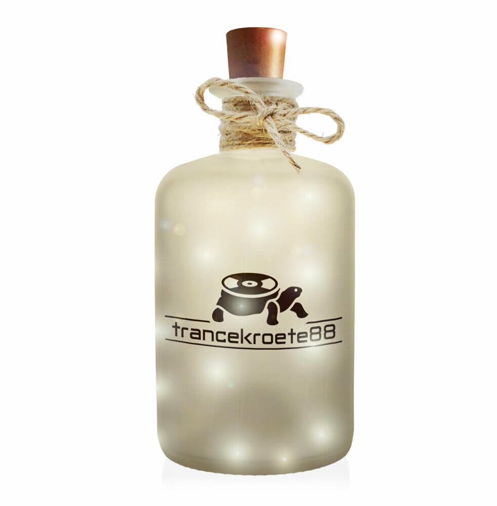 Trancekroete88 Flaschenlicht (Dekoflasche im Frost-Look mit integrierter LED-Beleuchtung)