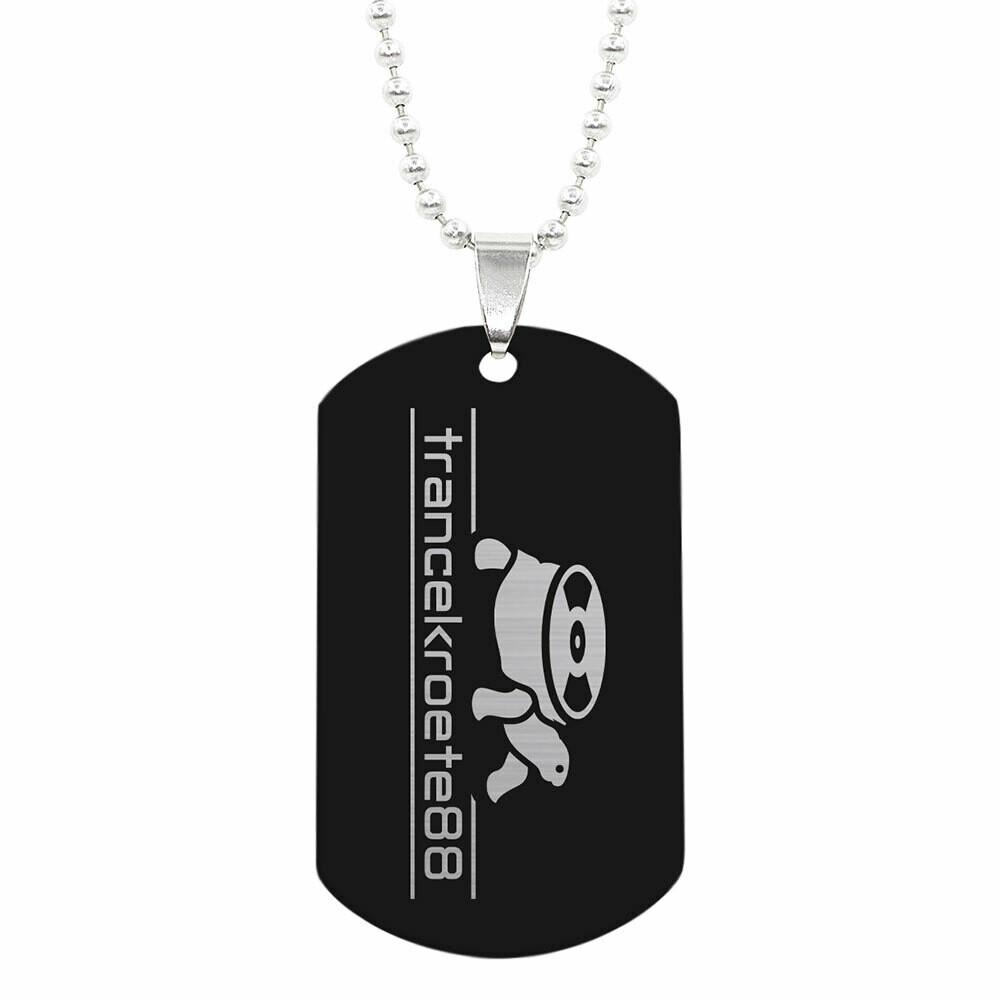 Halskette mit Trancekroete88 ID-Tag Anhänger