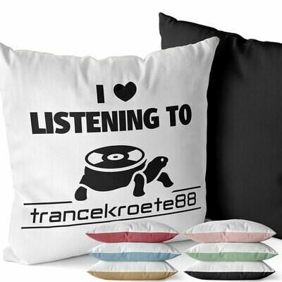 I love listening to Trancekroete88 Two-Tone Kissen (Erhältlich in sechs Farben)