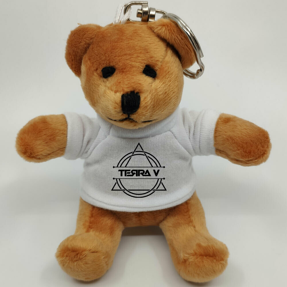 Terra V Mini-Teddybär mit Schlüsselring