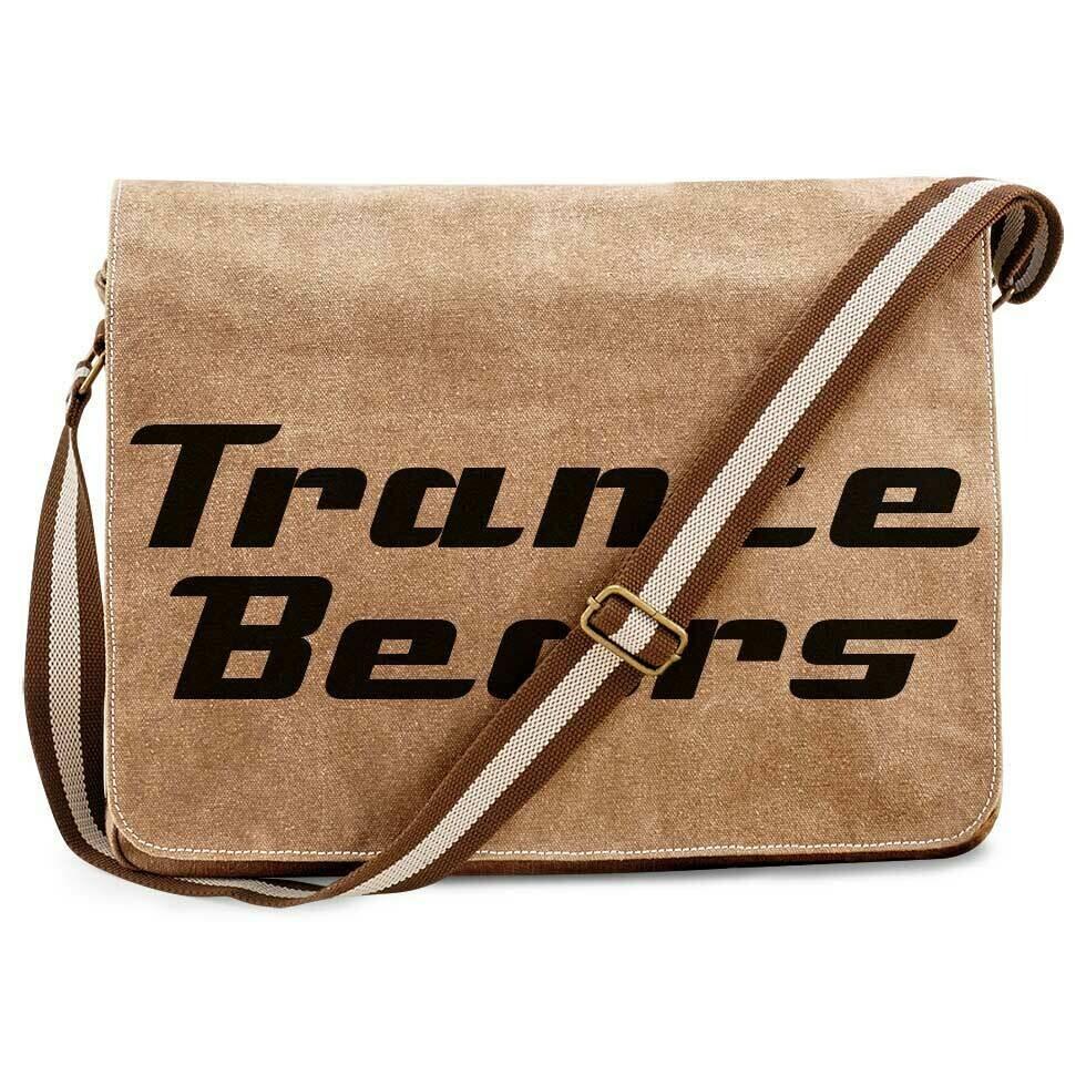Trance Bears Vintage Messenger Bag