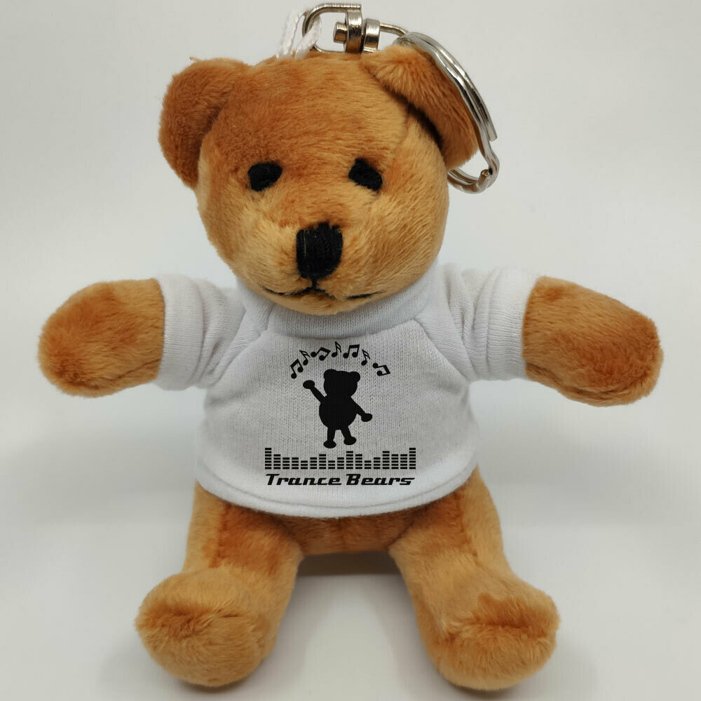 Trance Bears Mini-Teddybär mit Schlüsselring