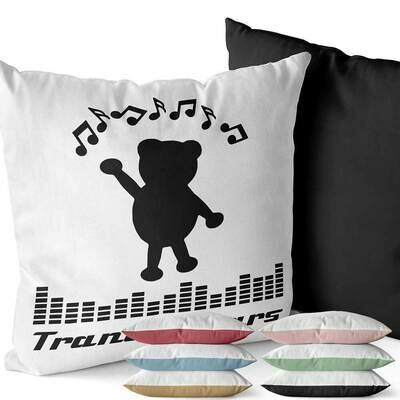 Trance Bears Two-Tone Kissen (Erhältlich in sechs Farben)