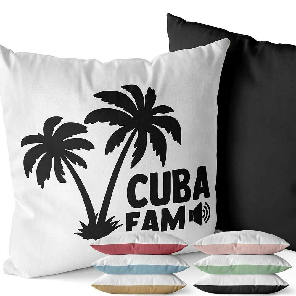 Cuba Fam Two-Tone Kissen (Erhältlich in sechs Farben)