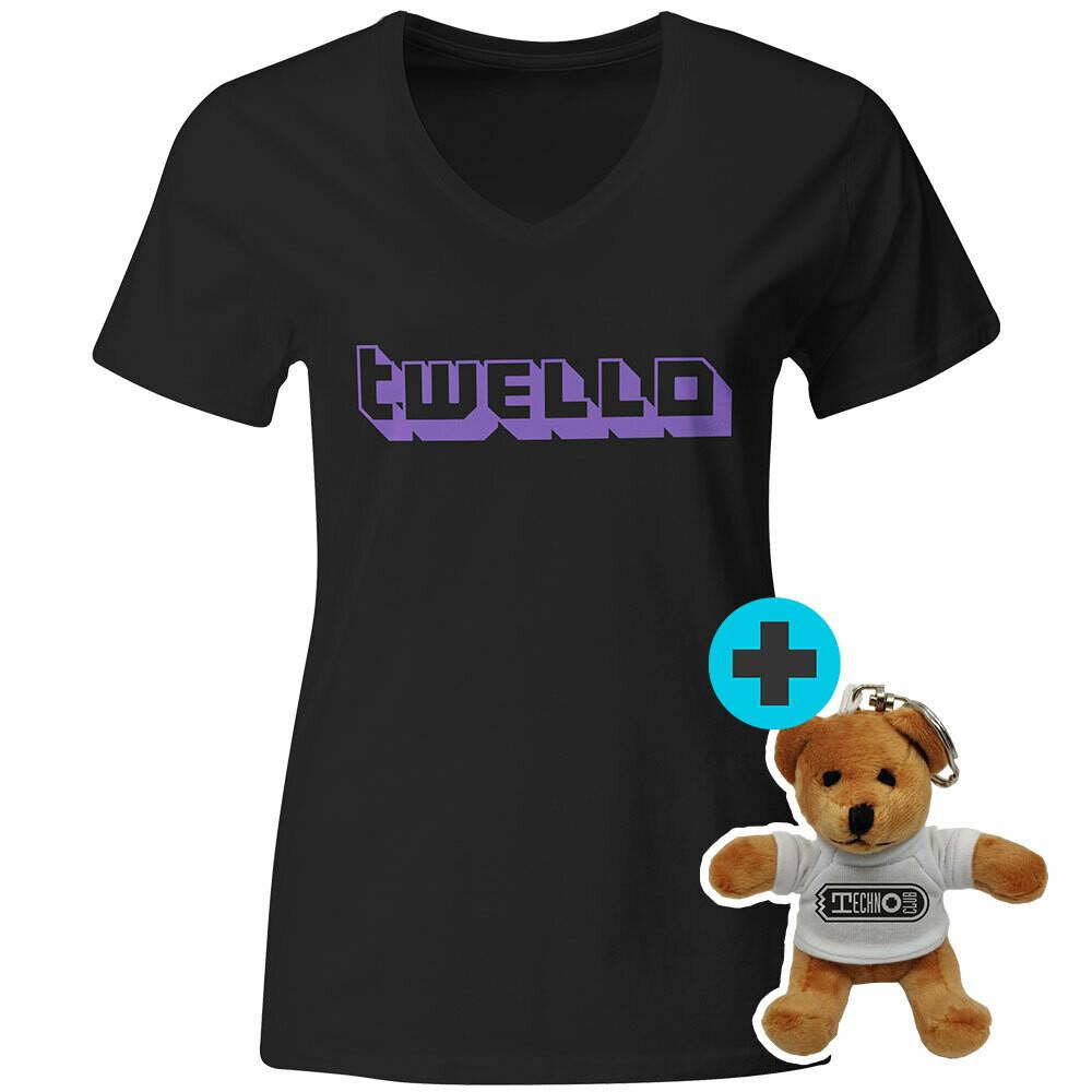 Technoclub Twello T-Shirt incl. Mini-Teddy (Women)