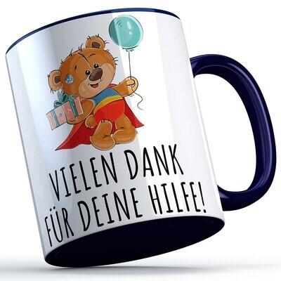 Vielen Dank für deine Hilfe Tasse (Bär mit Ballon) süße Sprüchetasse (5 Varianten)