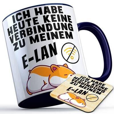 Ich habe heute keine Verbindung zu meinem E-LAN Tasse inkl. passendem Untersetzer lustige Sprüchetasse mit Hamster (5 Varianten)