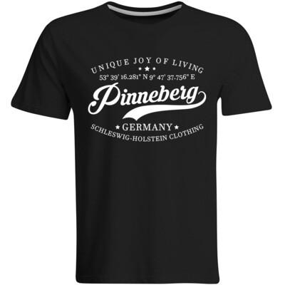 Pinneberg T-Shirt mit GPS Koordinaten (Herren, Rundhals- oder V-Ausschnitt)