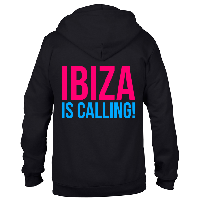 Ibiza is calling! (Unisex Sweatjacket)